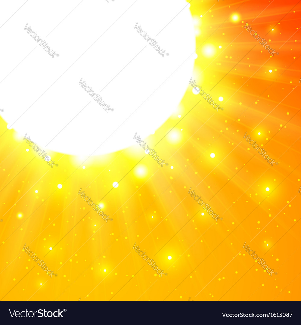 Orange shining sun with flares vector | Price: 1 Credit (USD $1)