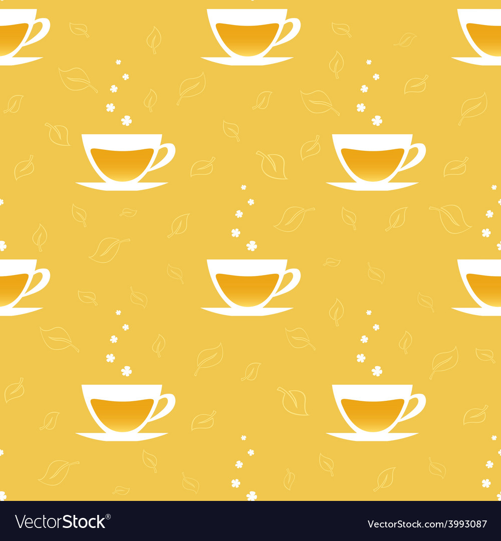 Seamless pattern with cups of tea vector | Price: 1 Credit (USD $1)