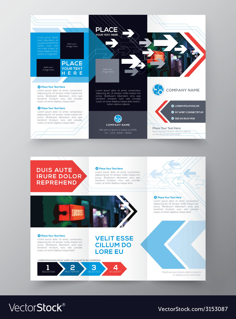Tri fold brochure flyer design layout template vector | Price: 1 Credit (USD $1)