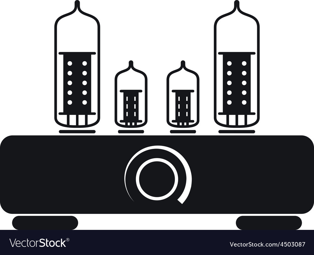 Tube amplifier icon vector | Price: 1 Credit (USD $1)