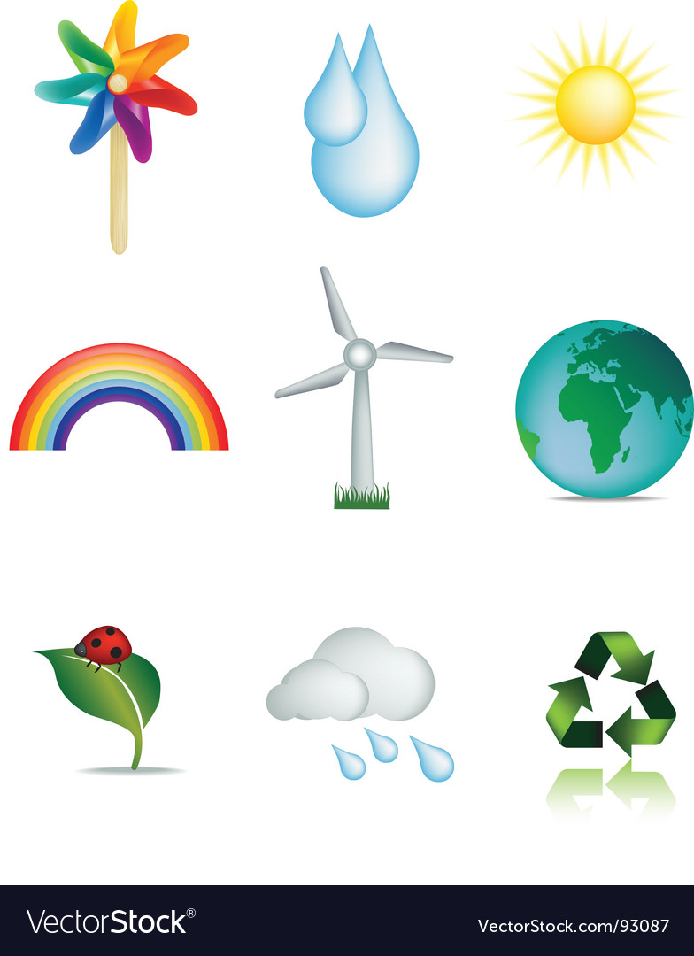 Weather and nature icons vector | Price: 1 Credit (USD $1)