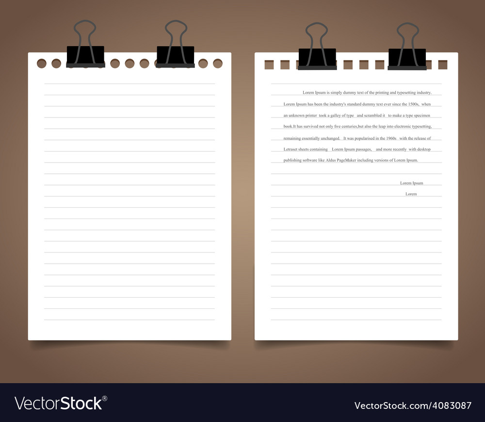 White paper ready for your message vector | Price: 1 Credit (USD $1)