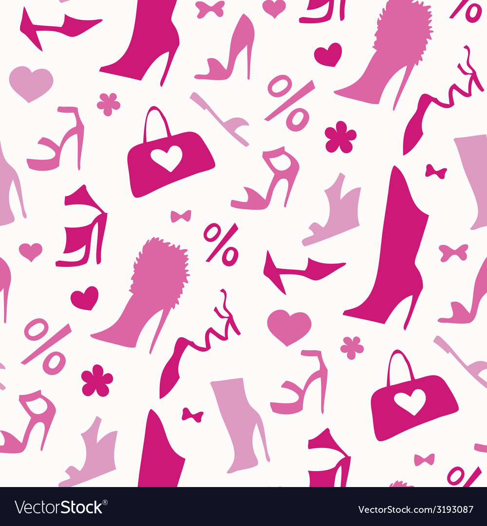 Women shoes seamless pattern vector   Price: 1 Credit (USD $1)