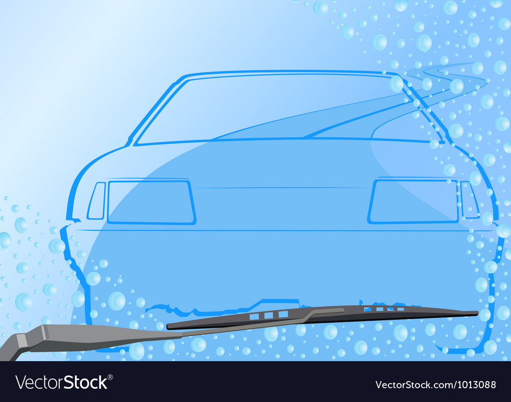 Automotive windshield and the car vector | Price: 1 Credit (USD $1)