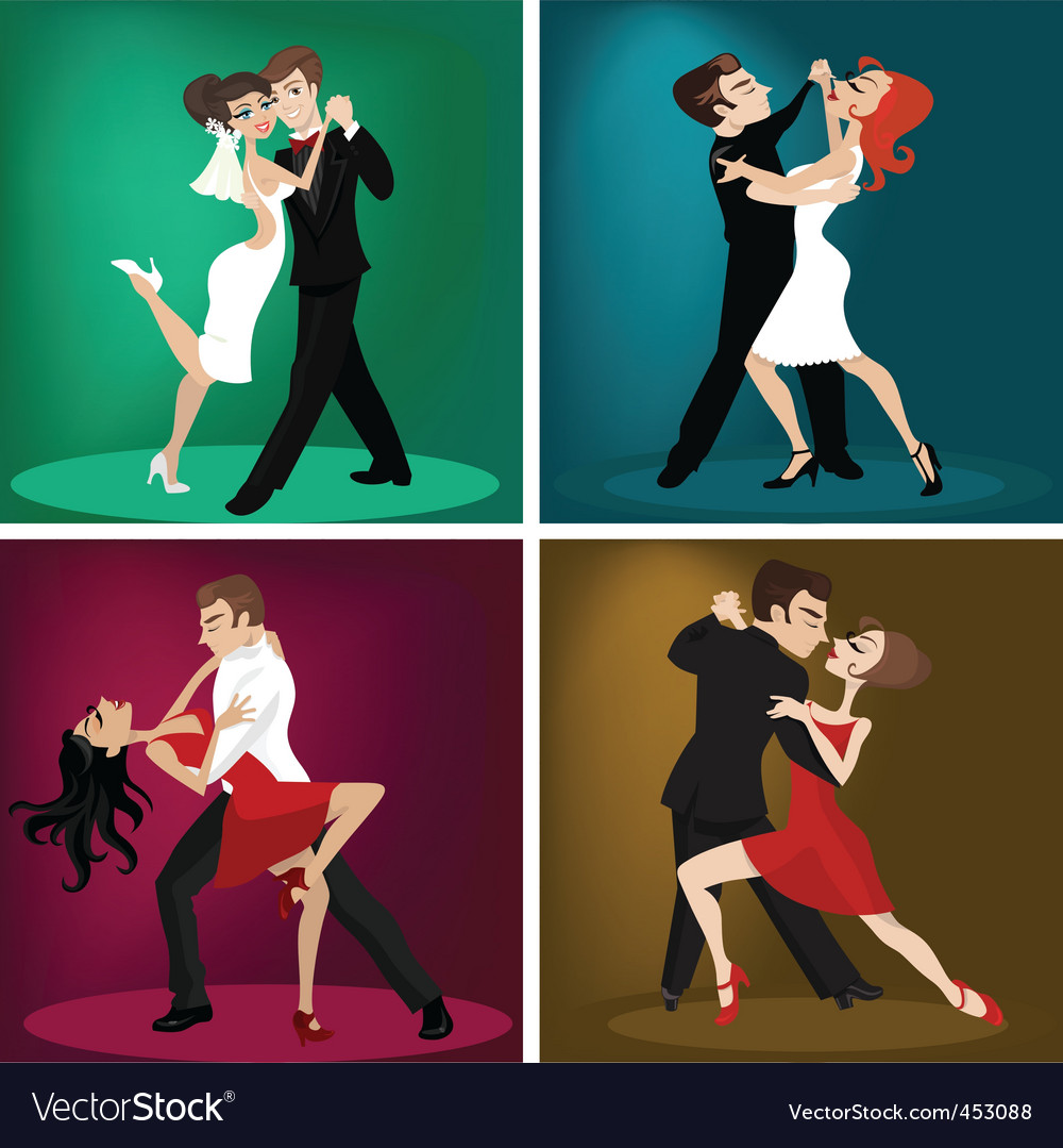 Couple dancing vector | Price: 5 Credit (USD $5)