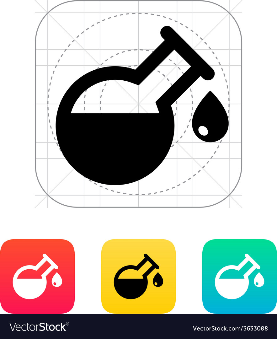 Drop from florence flask icon vector   Price: 1 Credit (USD $1)