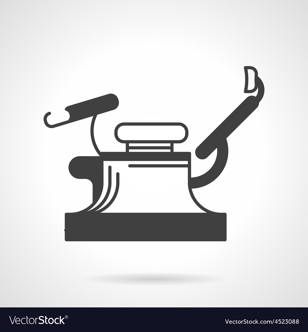 Gynecology chair black icon vector | Price: 1 Credit (USD $1)