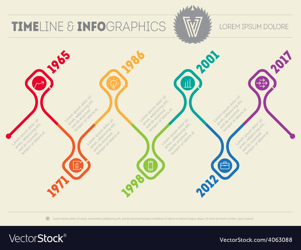 Horizontal infographic timelines web template for vector   Price: 1 Credit (USD $1)
