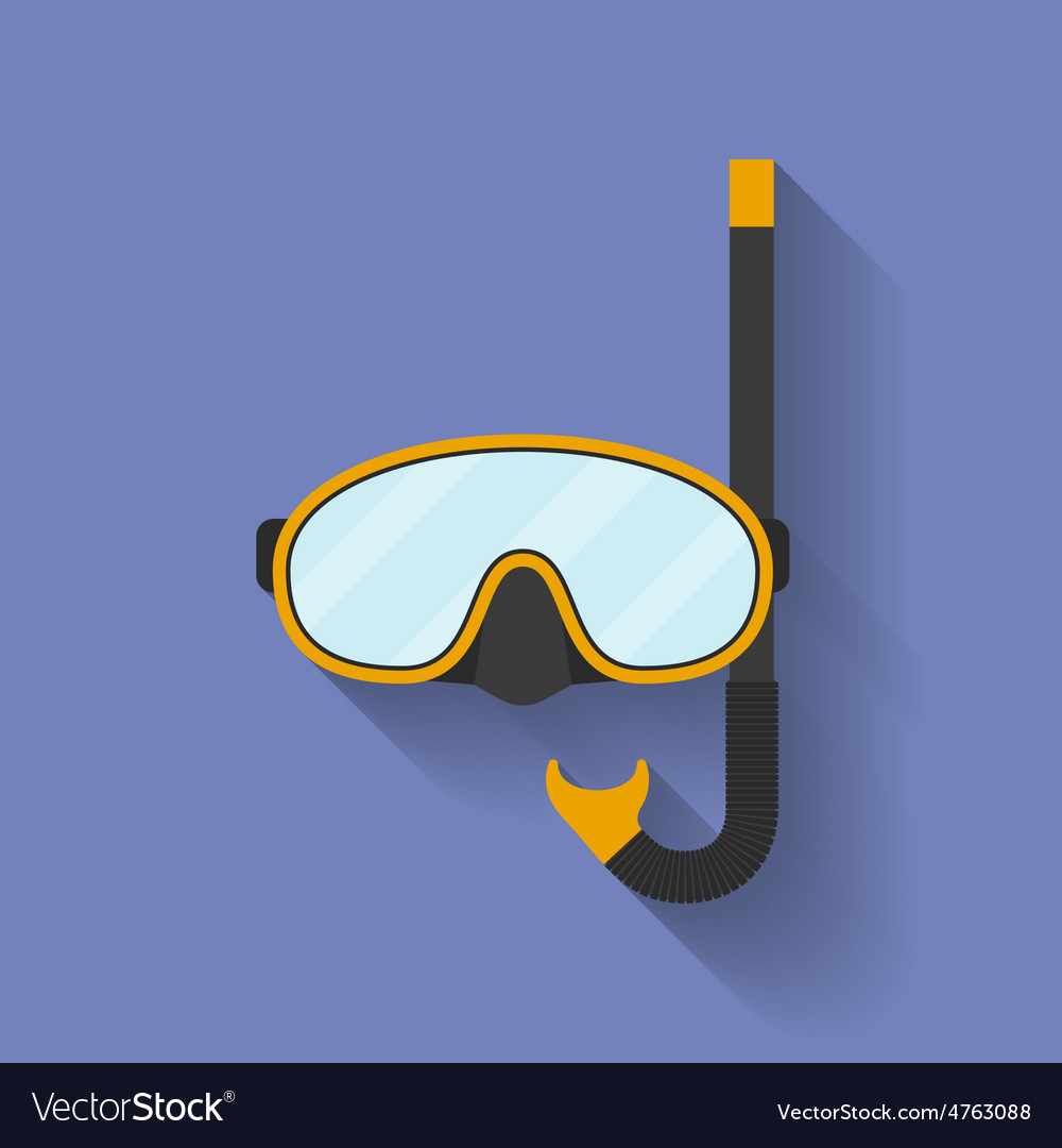 Icon of diving mask flat style vector | Price: 1 Credit (USD $1)