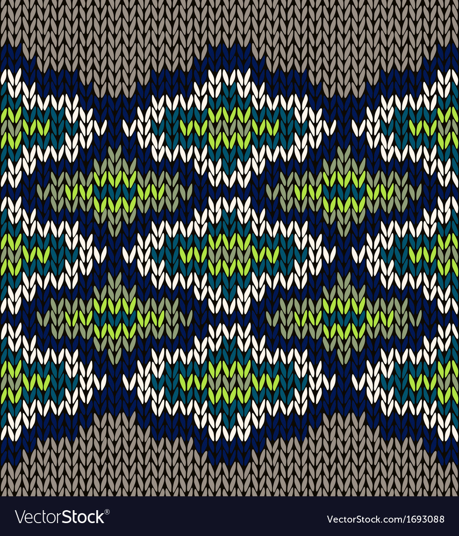 Knit seamless jacquard ornament texture fabric vector | Price: 1 Credit (USD $1)