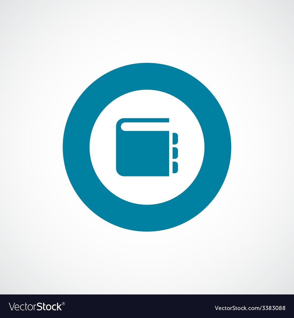 Notepad bold blue border circle icon vector | Price: 1 Credit (USD $1)