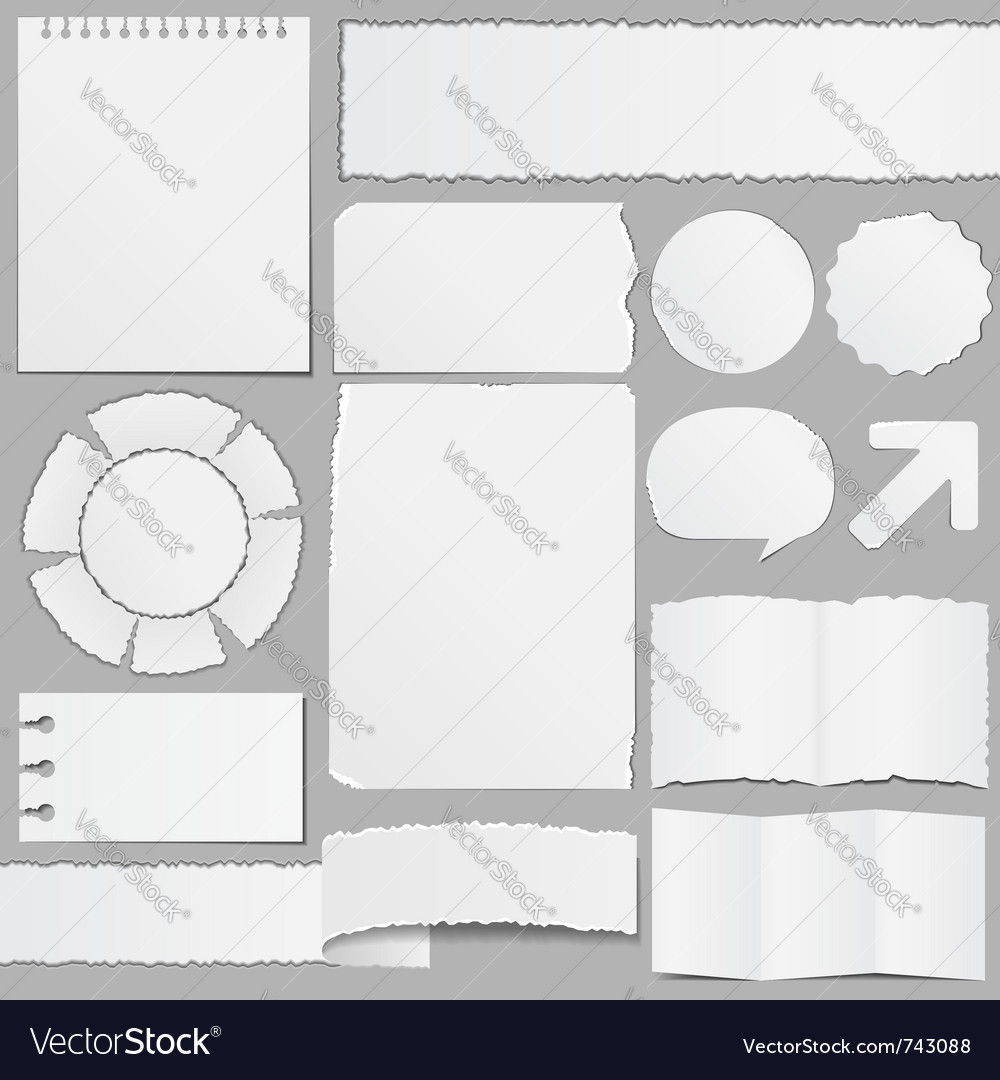 Old paper objects vector | Price: 1 Credit (USD $1)