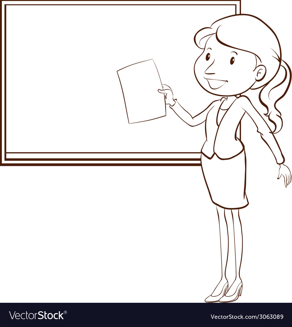A plain sketch of a teacher vector | Price: 1 Credit (USD $1)