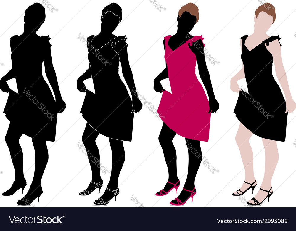 Attractive girl vector | Price: 1 Credit (USD $1)