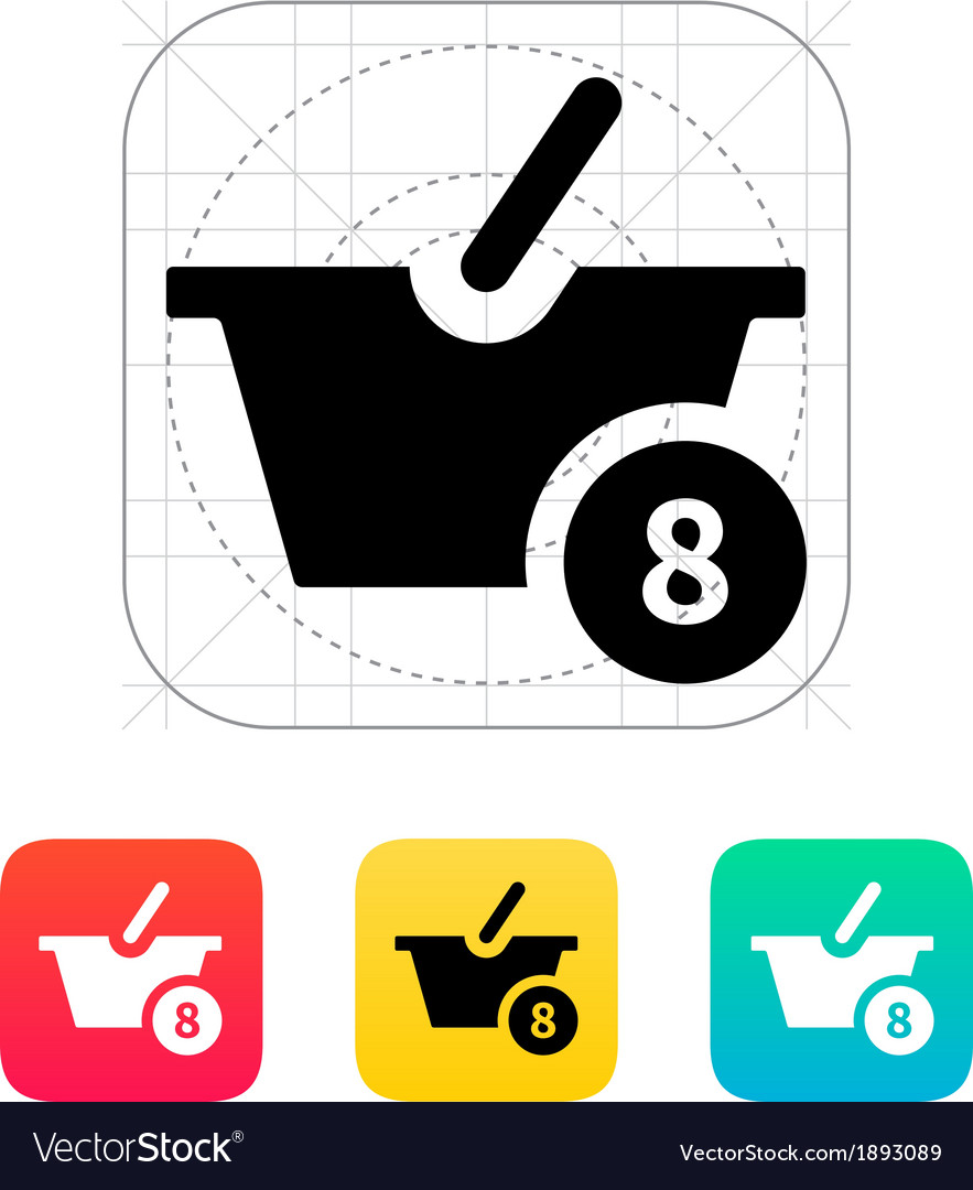 Basket with number icon vector | Price: 1 Credit (USD $1)