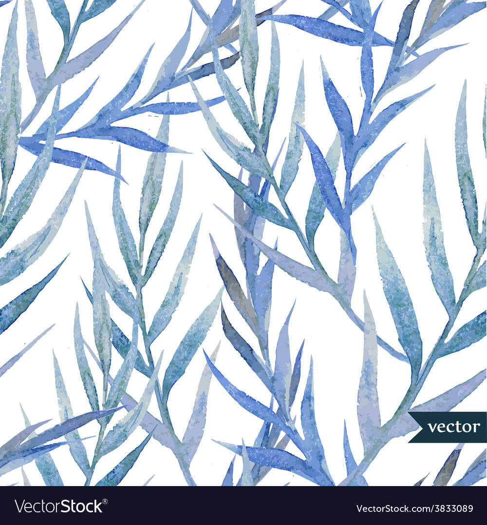 Blue leafs vector | Price: 1 Credit (USD $1)