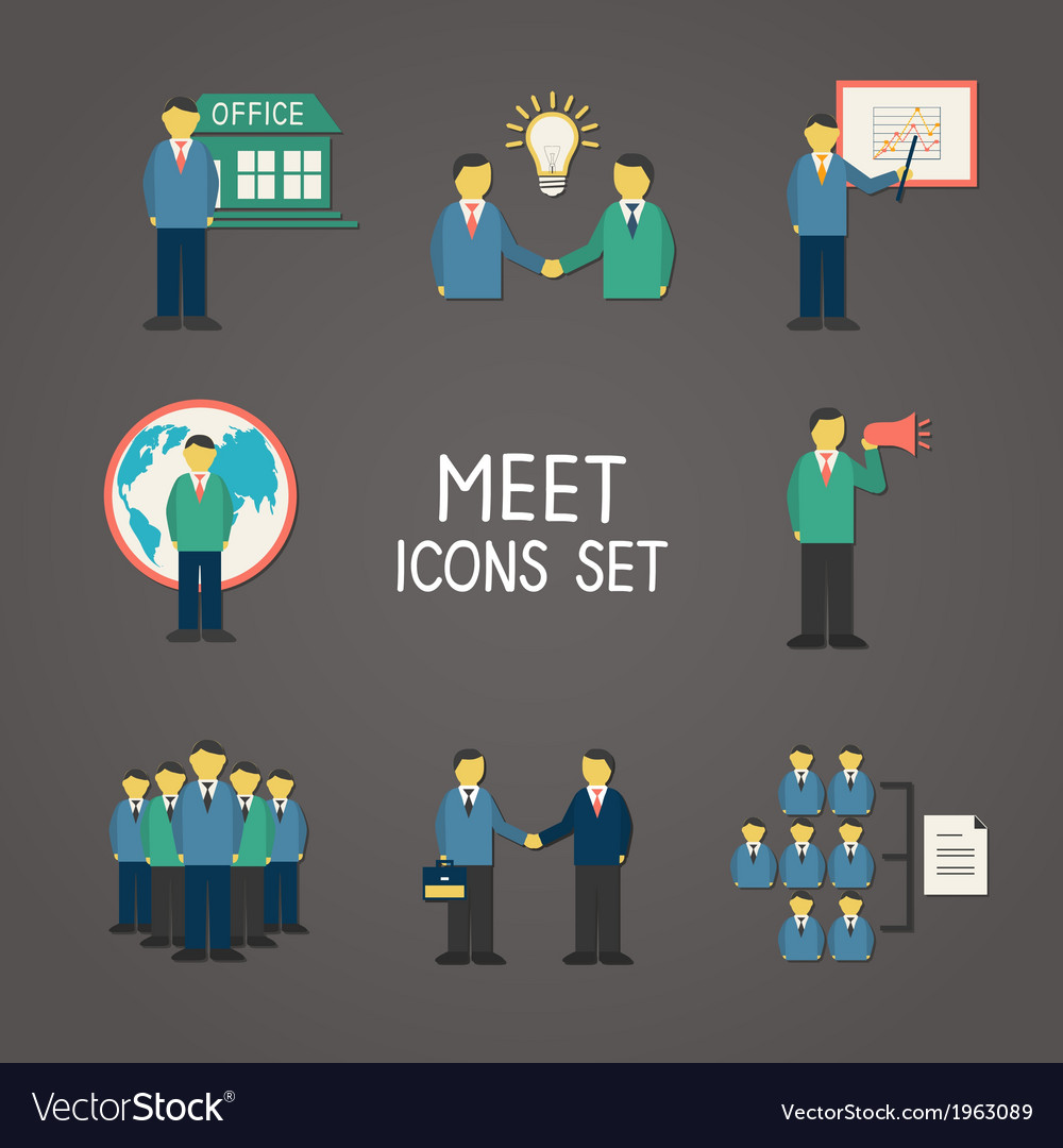 Collection of flat business people vector | Price: 1 Credit (USD $1)