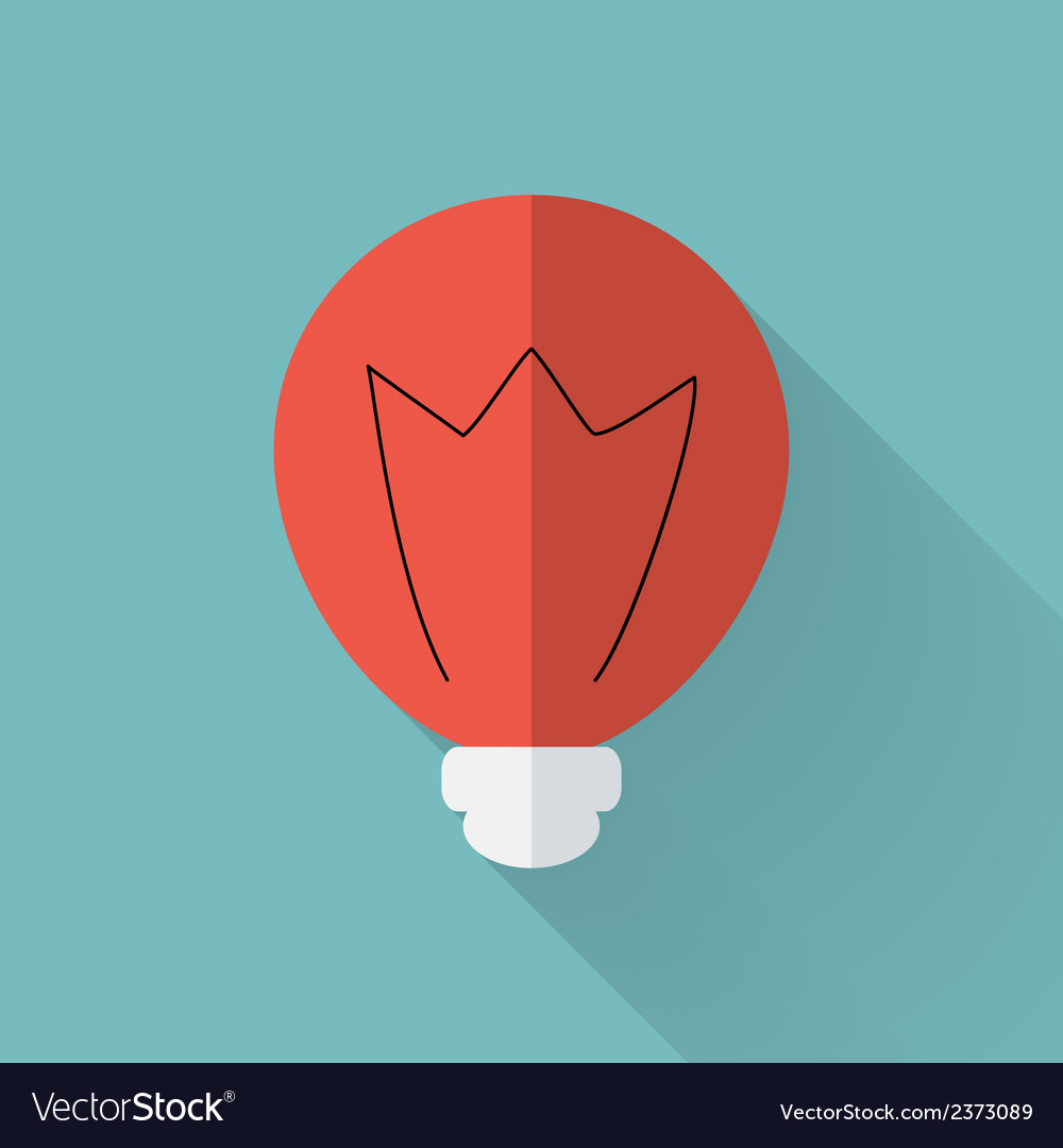 Flat lamp icon over mint vector   Price: 1 Credit (USD $1)