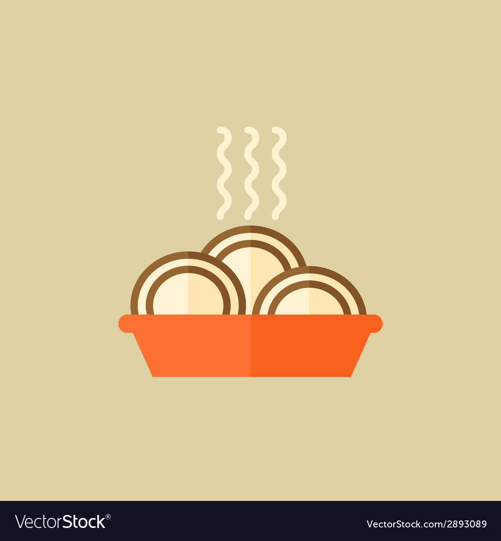 Food flat icon vector | Price: 1 Credit (USD $1)