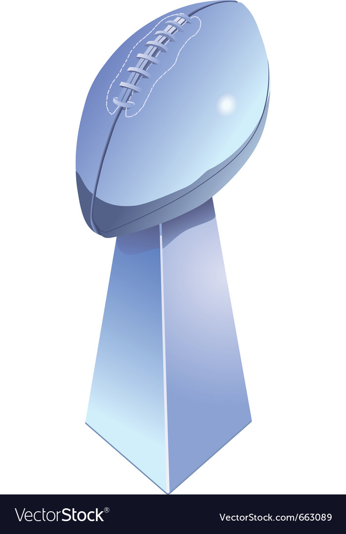 Football trophy vector | Price: 1 Credit (USD $1)