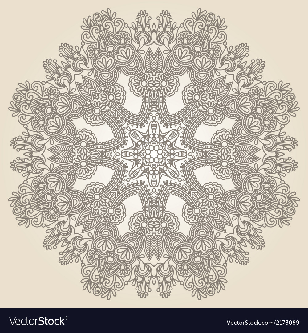 Geometric doily patter vector | Price: 1 Credit (USD $1)