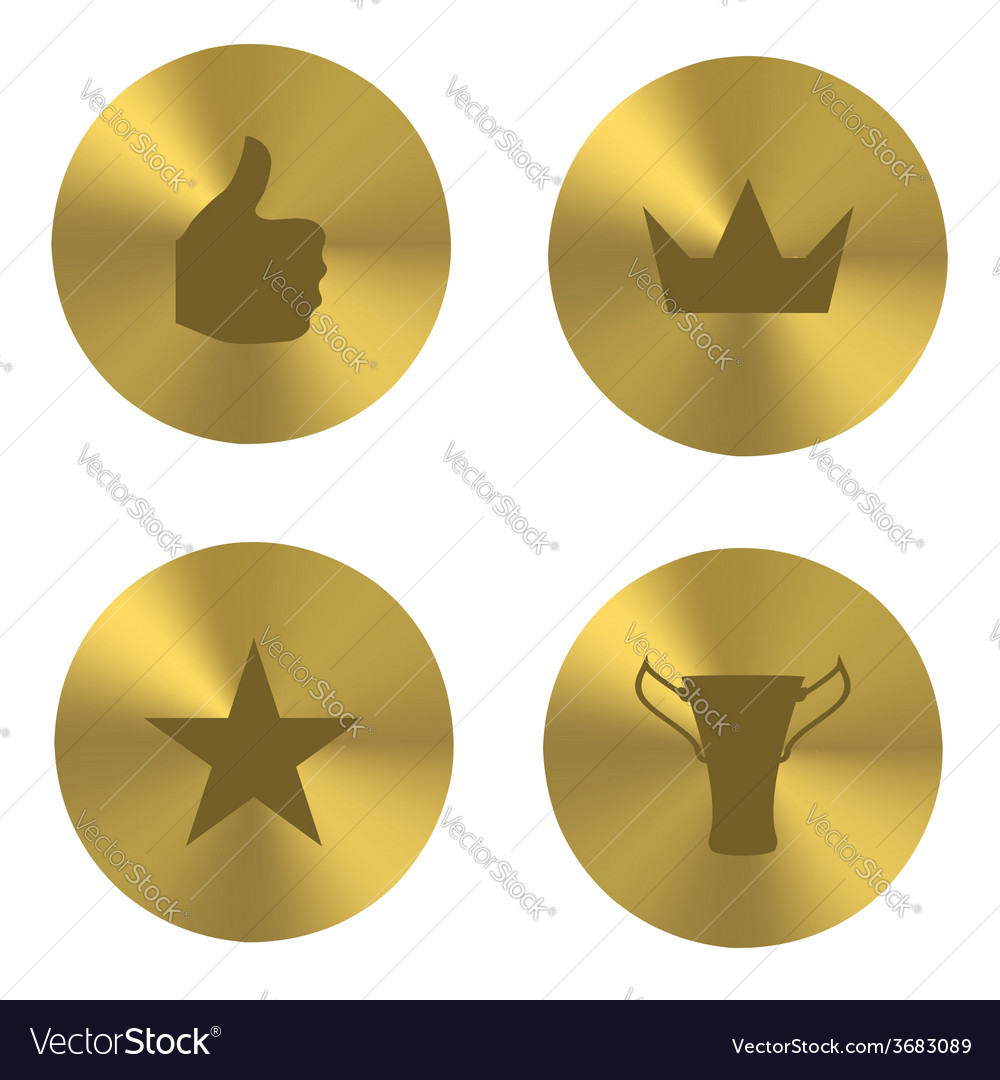 Golden insania icons vector | Price: 1 Credit (USD $1)