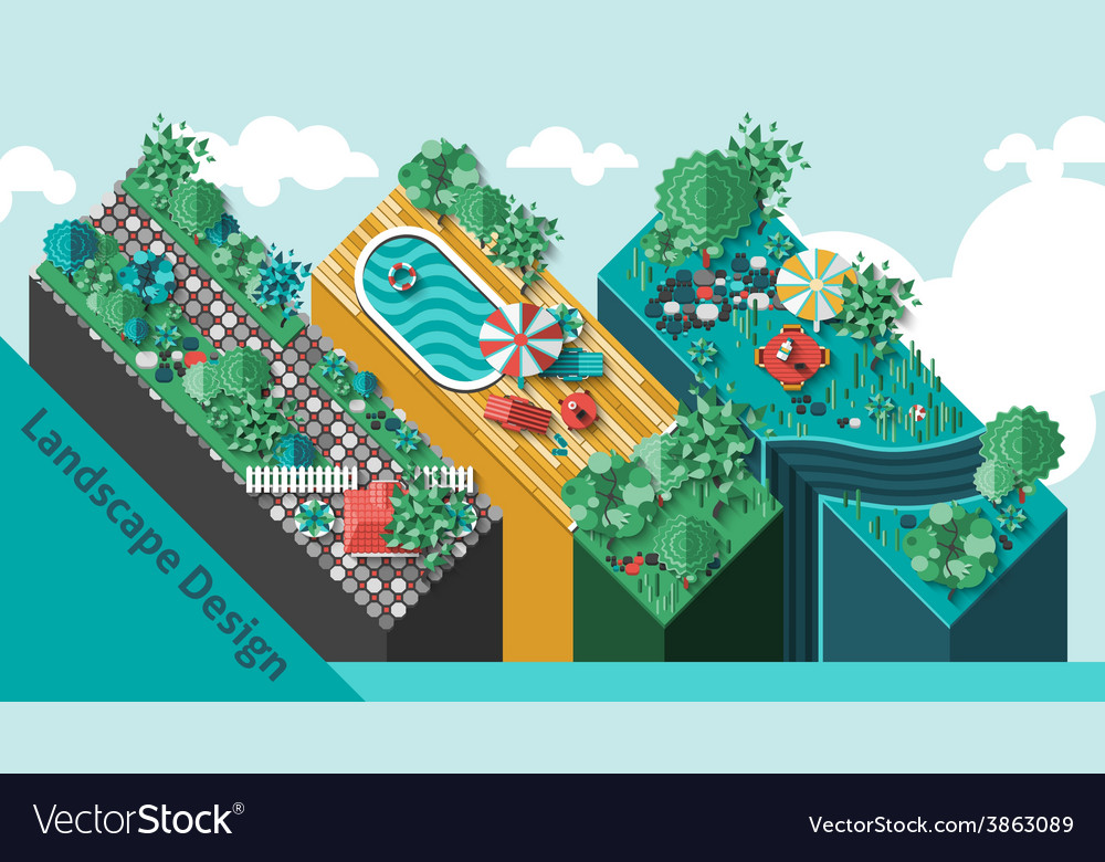Landscape design concept vector | Price: 1 Credit (USD $1)
