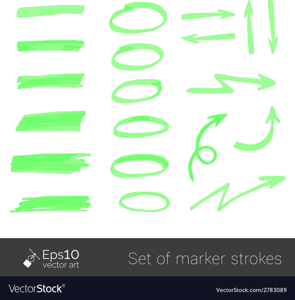 Marker strokes vector | Price: 1 Credit (USD $1)