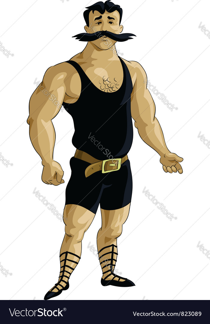 Retro body builder vector | Price: 3 Credit (USD $3)