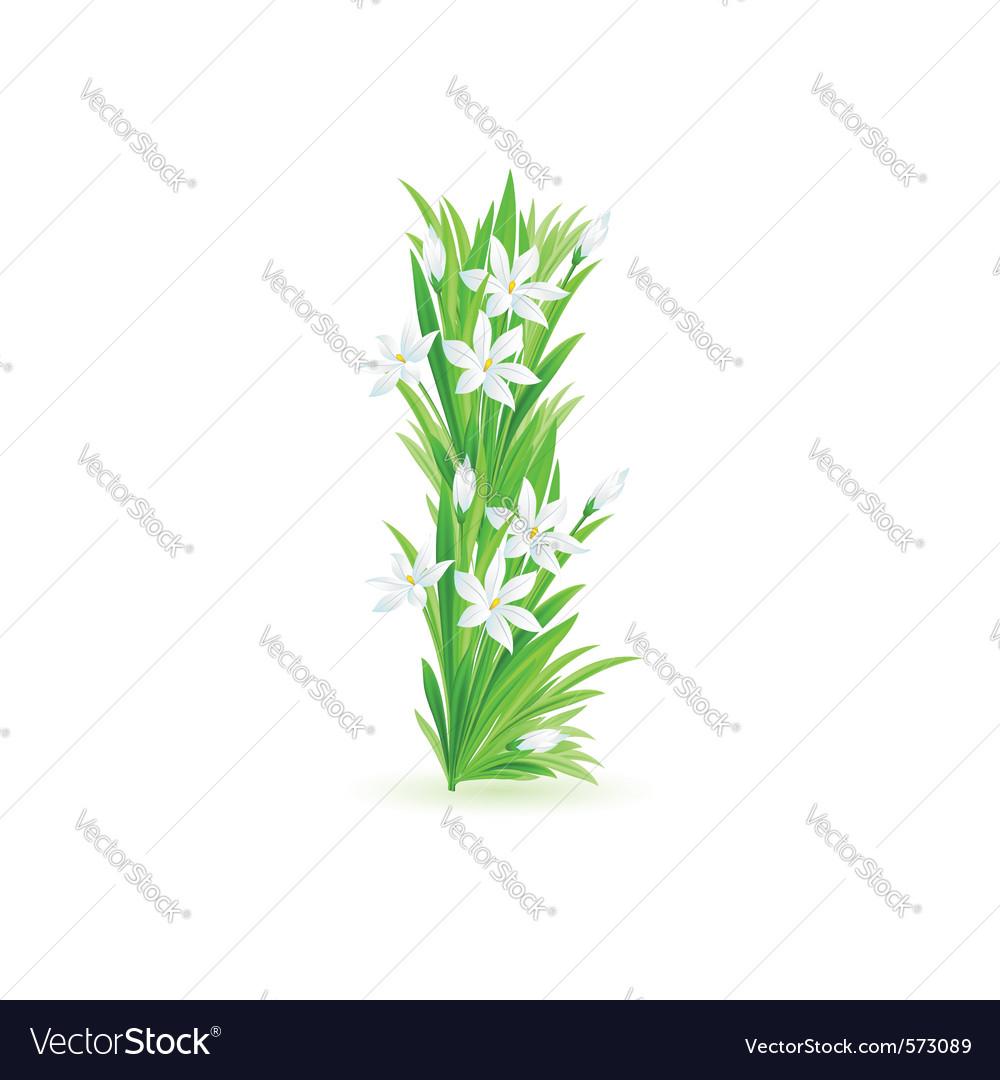 Spring flowers alphabet i vector   Price: 1 Credit (USD $1)