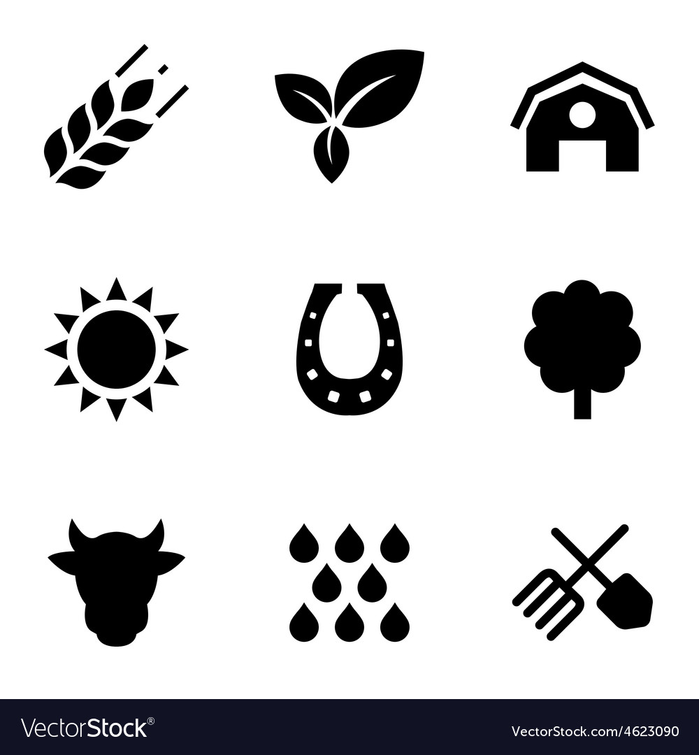 Agriculture 9 icons set vector | Price: 1 Credit (USD $1)