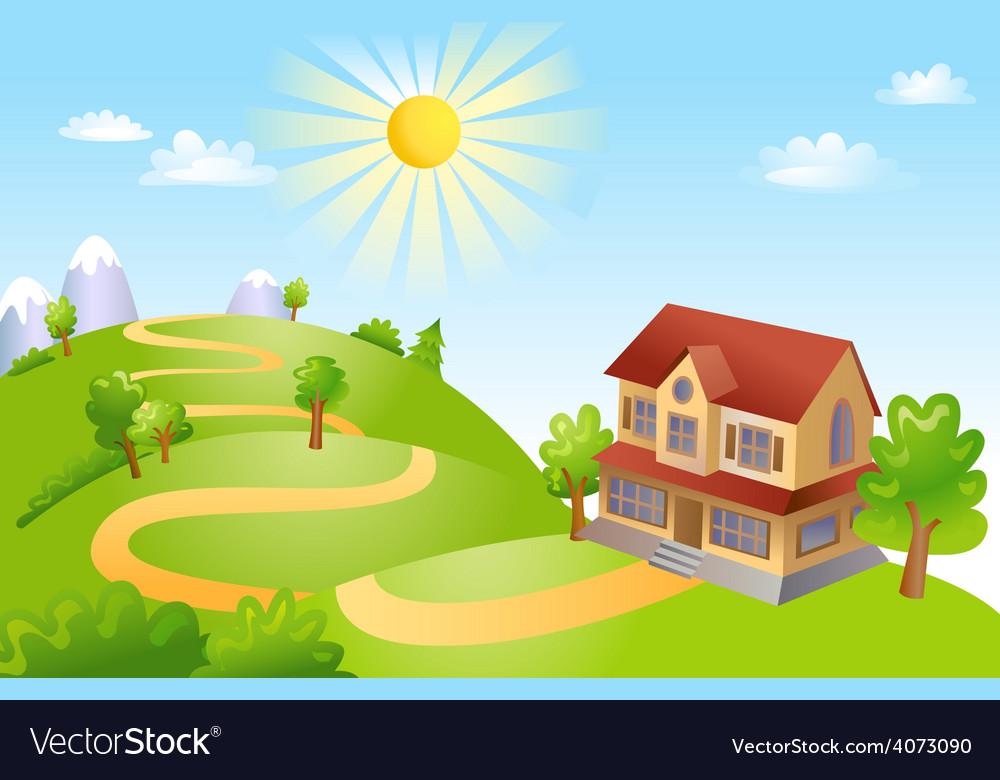 Beautiful landscape vector   Price: 3 Credit (USD $3)