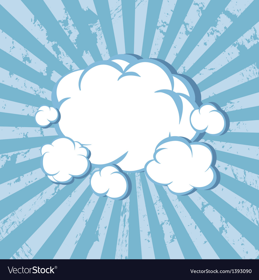 Clouds comic book background vector | Price: 1 Credit (USD $1)