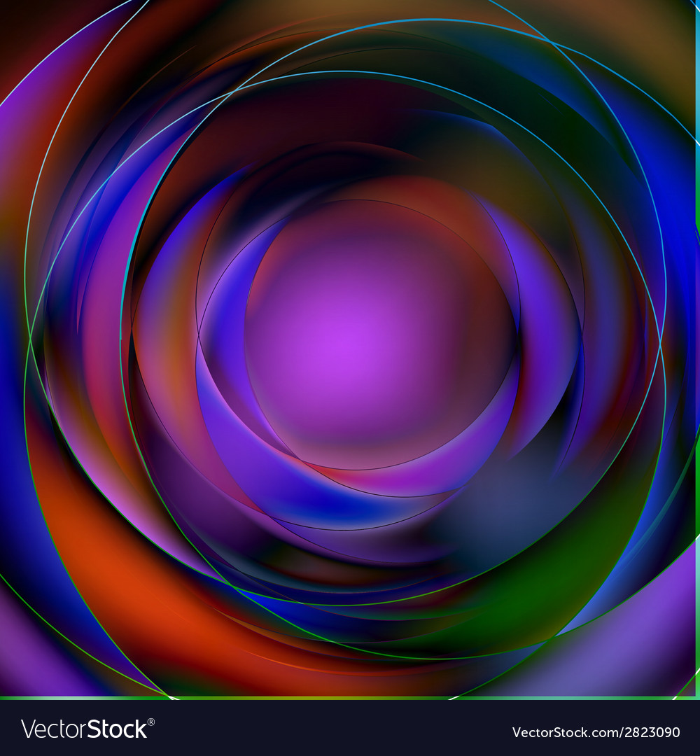 Colorful abstract circular background vector | Price: 1 Credit (USD $1)