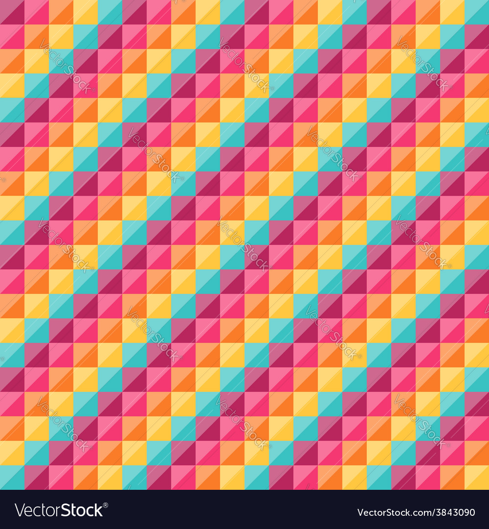 Geometric pattern with rainbow diamond shapes vector | Price: 1 Credit (USD $1)