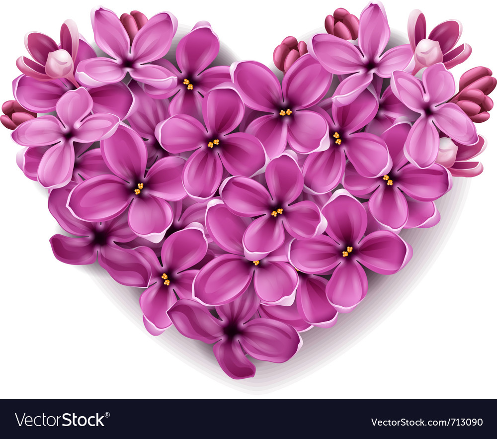 Heart from flowers vector | Price: 1 Credit (USD $1)