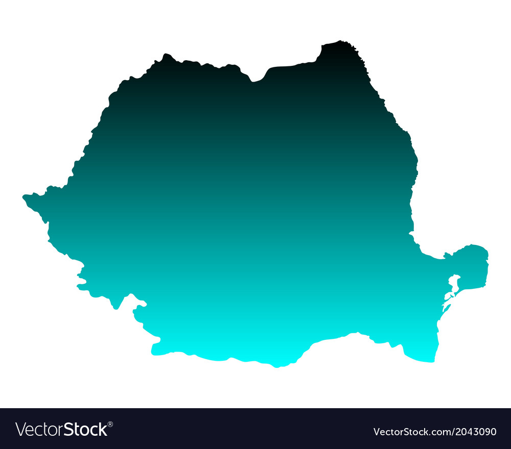 Map of romania vector | Price: 1 Credit (USD $1)