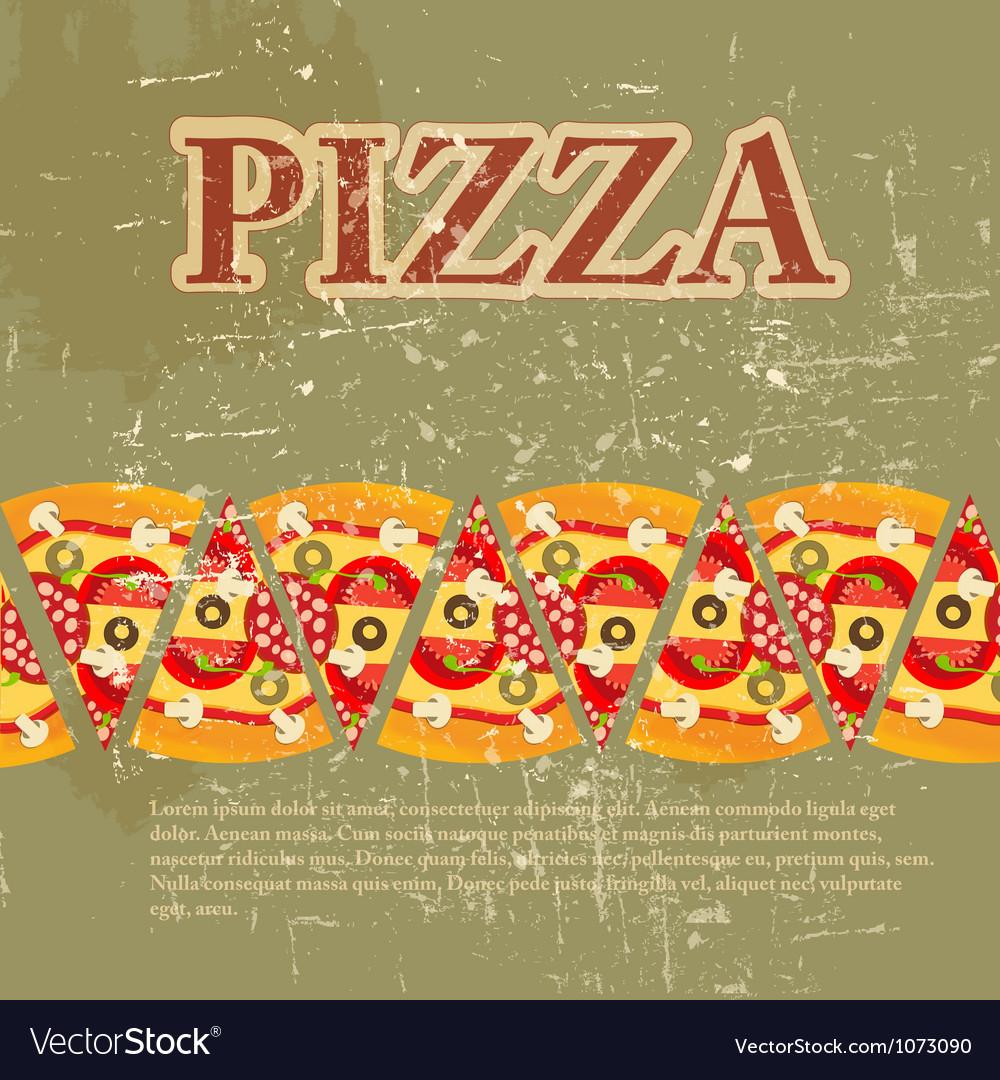 Retro pizza menu template vector | Price: 1 Credit (USD $1)