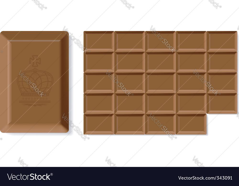Chocolate bar vector | Price: 1 Credit (USD $1)