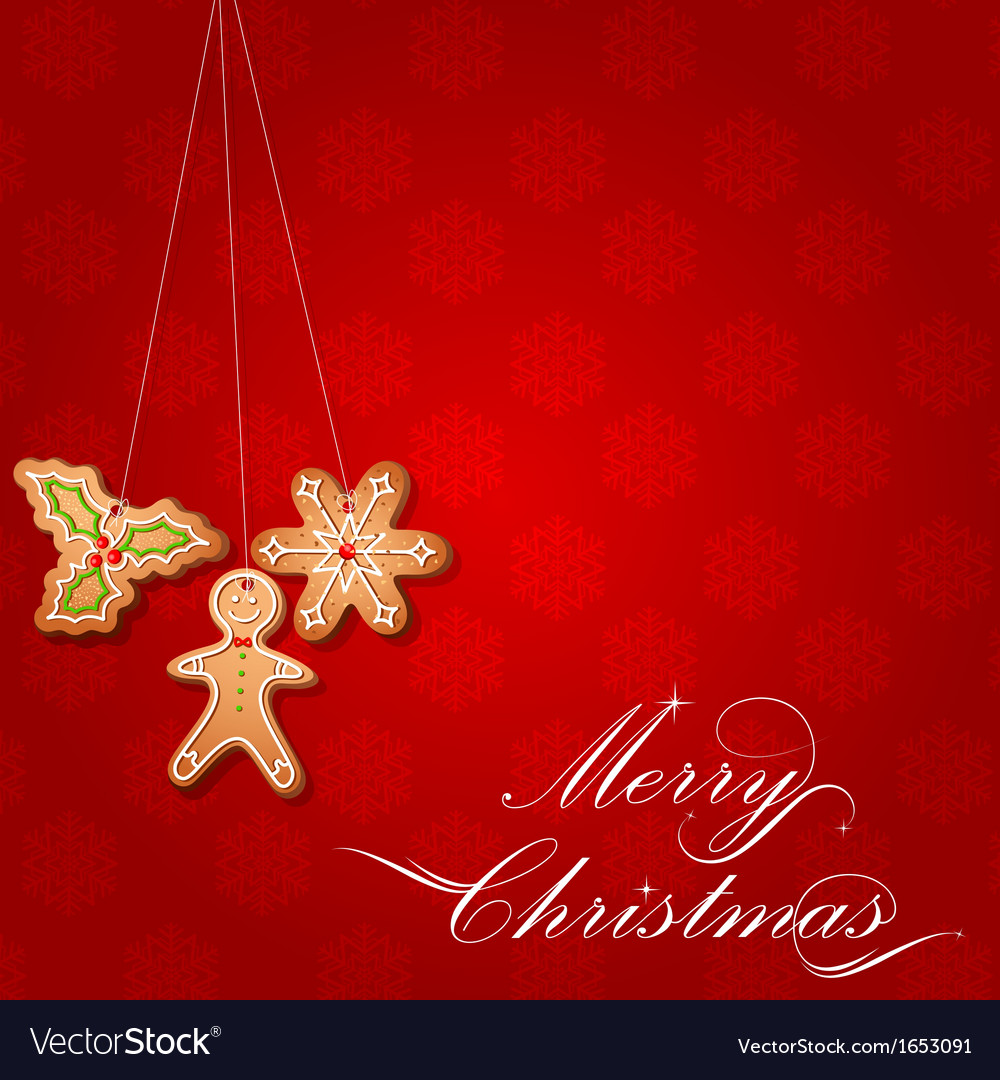 Christmas gingerbread cookie vector | Price: 1 Credit (USD $1)