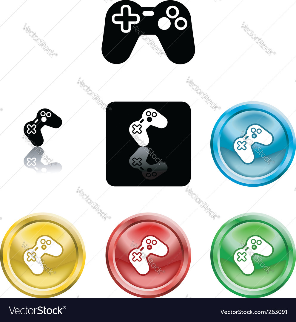 Game controller icon vector | Price: 1 Credit (USD $1)