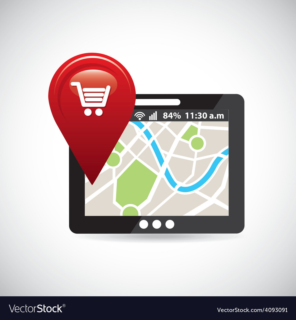 Gps navigation vector | Price: 1 Credit (USD $1)