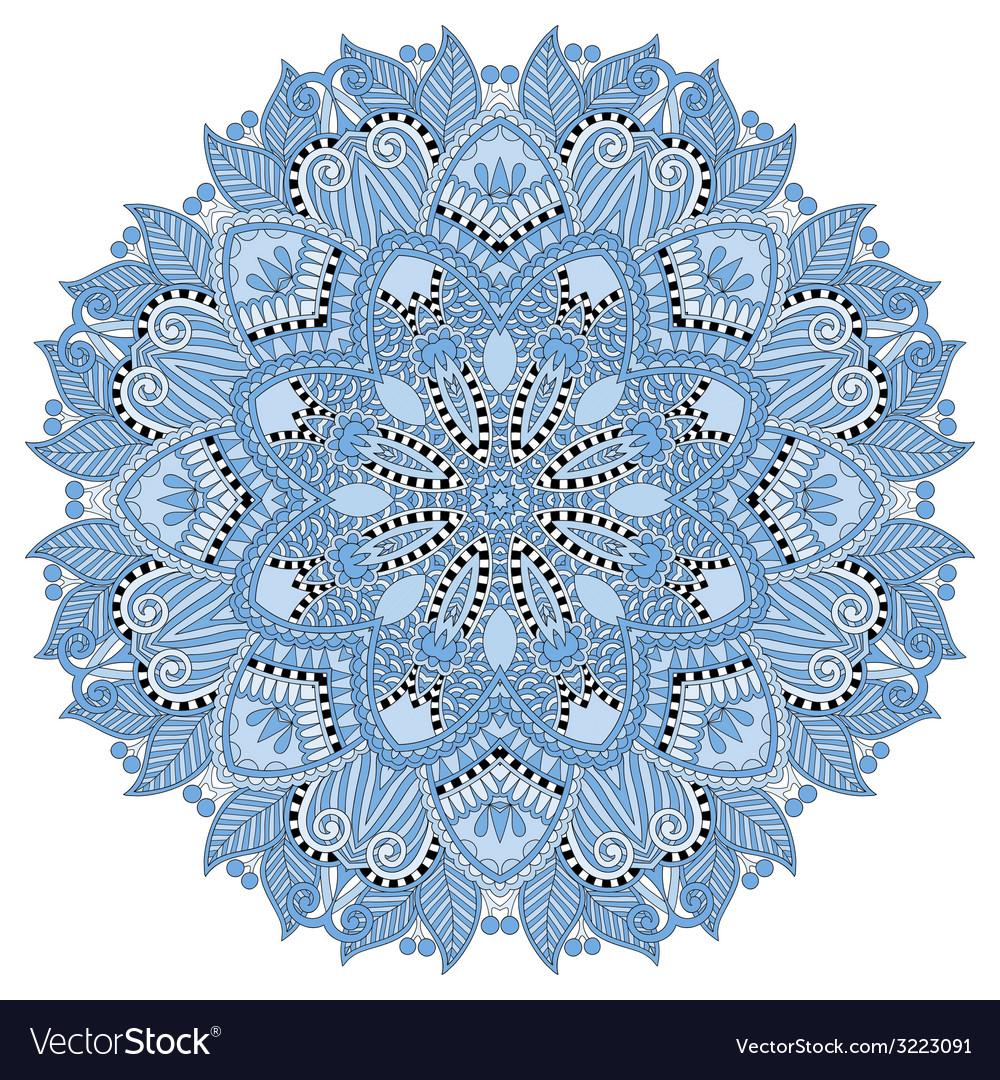 Mandala blue colour circle decorative spiritual vector | Price: 1 Credit (USD $1)