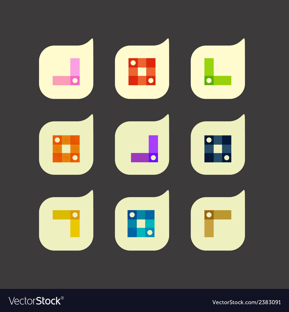 Set of beautiful abstract icons vector | Price: 1 Credit (USD $1)