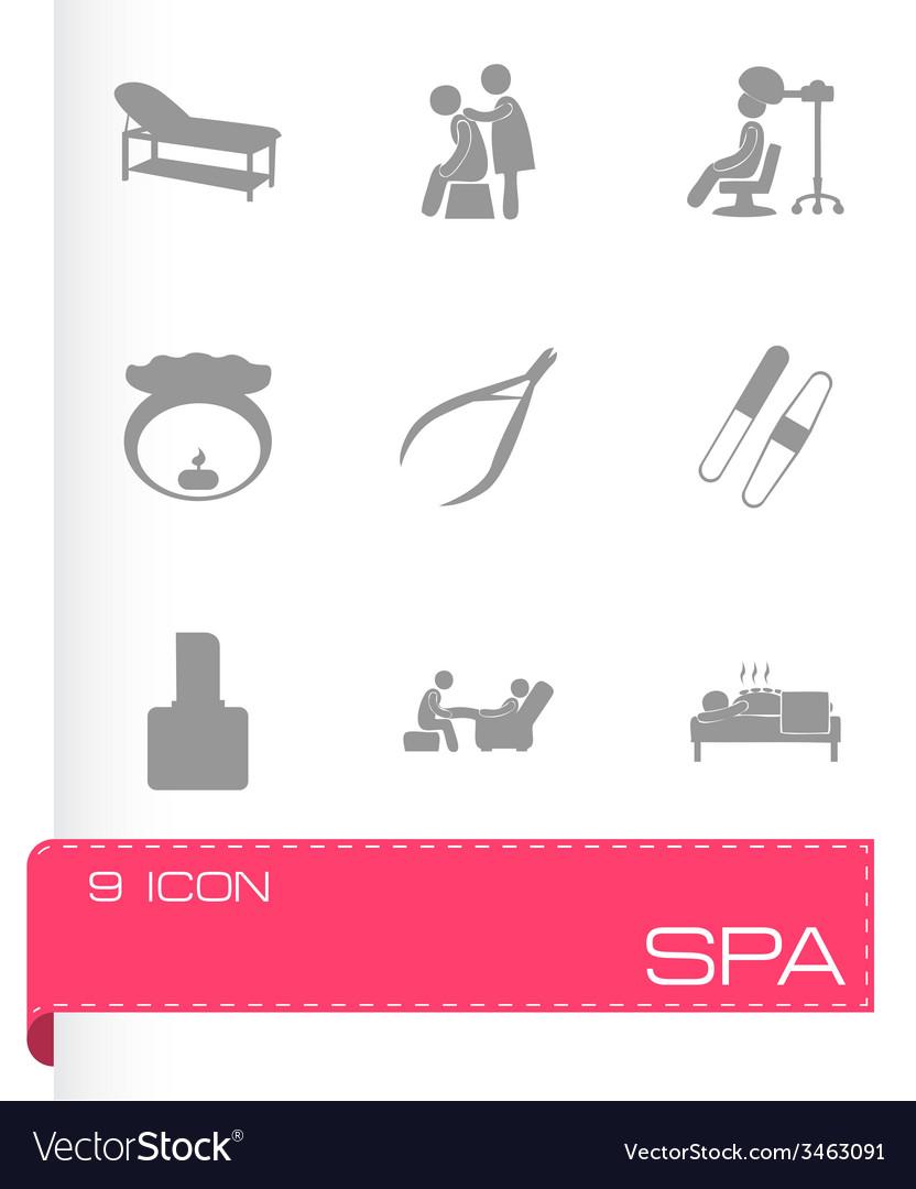 Spa icon set vector | Price: 1 Credit (USD $1)