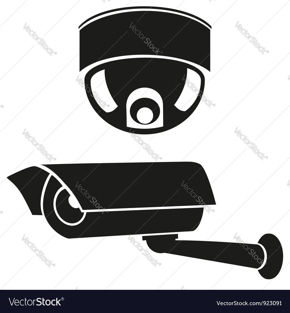 Video surveillance camera 06 vector | Price: 1 Credit (USD $1)
