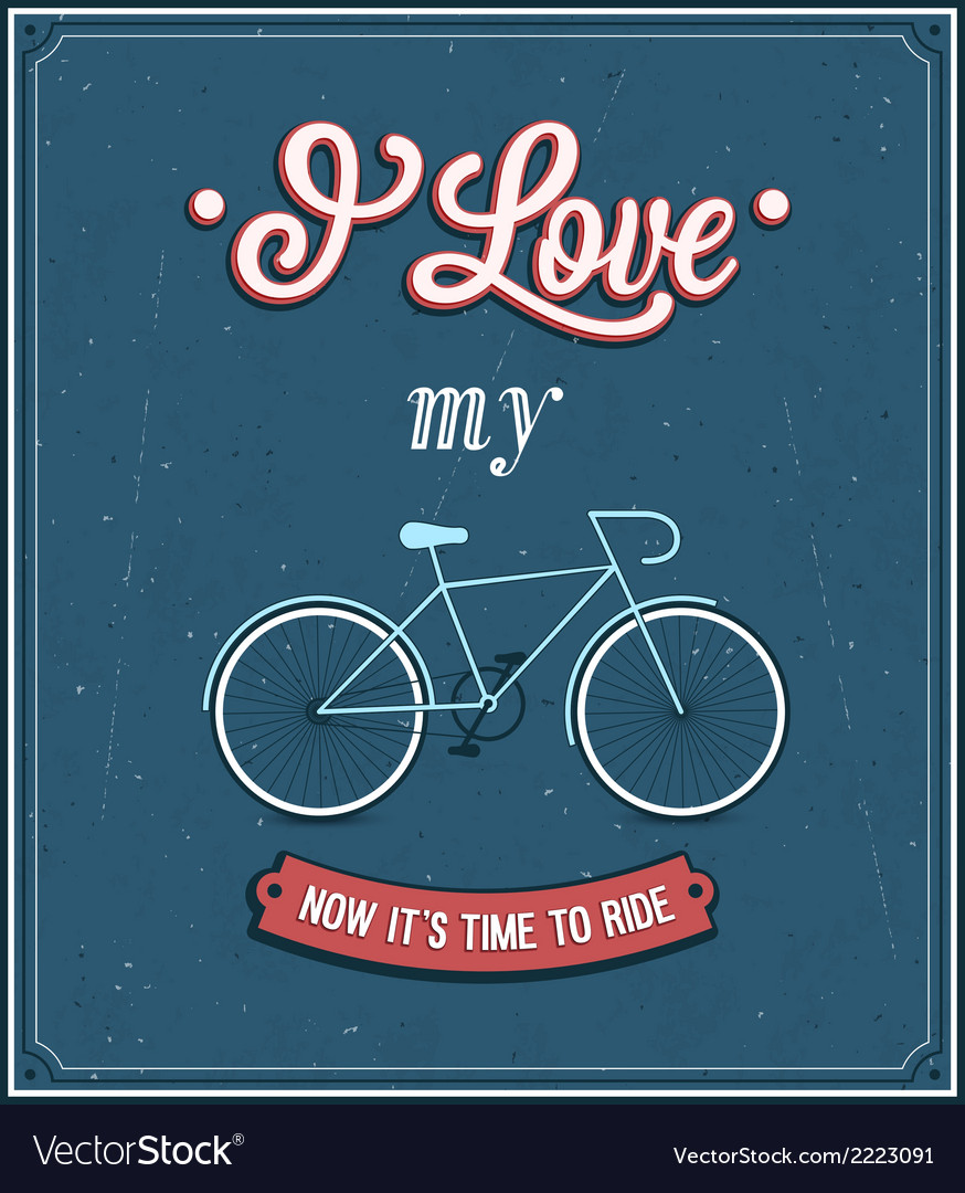Vintage background with bicycle vector | Price: 1 Credit (USD $1)