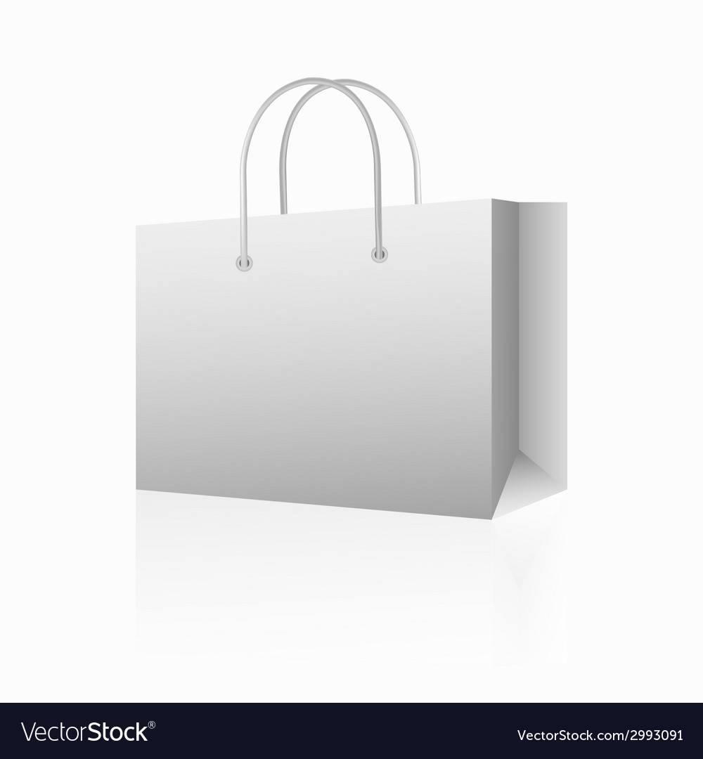 White shopping paper bag vector | Price: 1 Credit (USD $1)