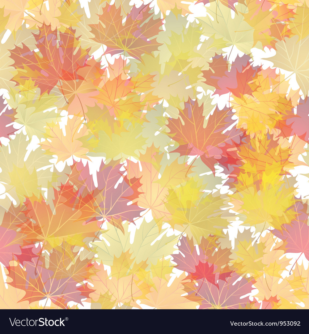 Autumn leaves seamless pattern vector | Price: 1 Credit (USD $1)