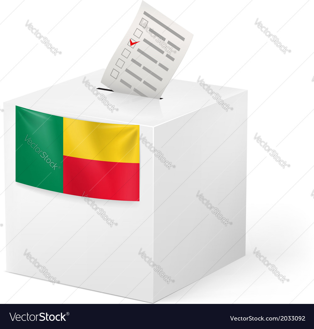 Ballot box with voting paper benin vector | Price: 1 Credit (USD $1)